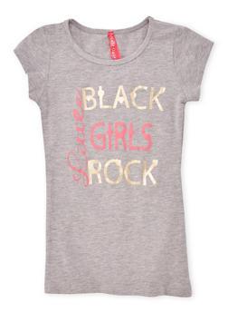 Girls 7-16 Black Girls Rock Graphic Tee - 1635066590152