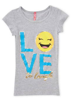 Girls 7-16 Love to Laugh Graphic T Shirt - 1635066590175