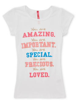 Girls 7-16 You Are Amazing Graphic Top - 1635066590187