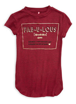 Girls 7-16 Fabulous Graphic Top - 1635066590359