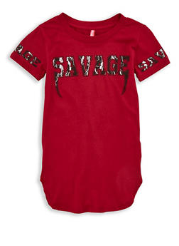 Girls 7-16 Savage Graphic Top - 1635066590469
