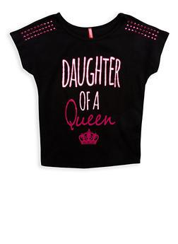 Girls 7-16 Queen Graphic Studded T Shirt - 1635066590487