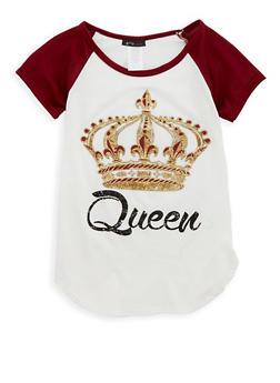 Girls 7-16 Queen Graphic T Shirt - 1635066590513