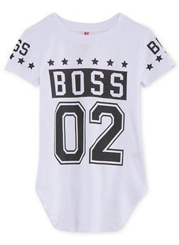 Girls 7-16 Short Sleeve Boss Graphic T Shirt - 1635066591306