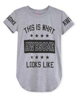 Girls 7-16 Short Sleeve Graphic T Shirt - 1635066591310