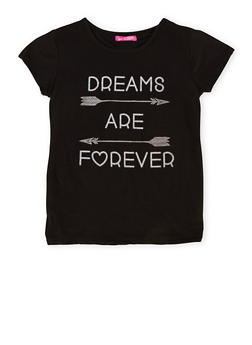 Girls 7-16 Top with Dreams are Forever Graphic - 1635072170368