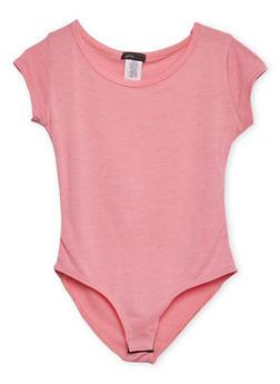 Girls 7-16 Short Sleeve Bodysuit - 1635072170381