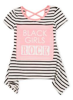 Girls 7-16 Black Girls Rock Graphic Sharkbite T Shirt - 1635072170408
