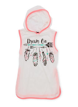 Girls 7-16 Dream On Graphic Hooded Top - 1635072170420