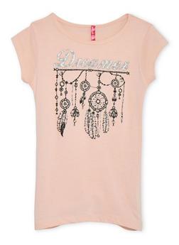 Girls 7-16 Short Sleeve Dreamer Graphic T Shirt - 1635072174001