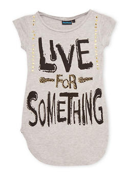 Girls 7-16 Live For Something Graphic Top - 1635073420002