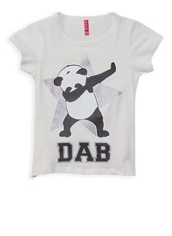 Girls 7-16 Panda Graphic Top - 1635074410029