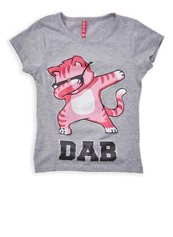 Girls 7-16 Tiger Graphic Top - 1635074410030