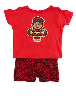 Baby Girl Trukfit T-Shirt and Shorts Set - 1641072912044