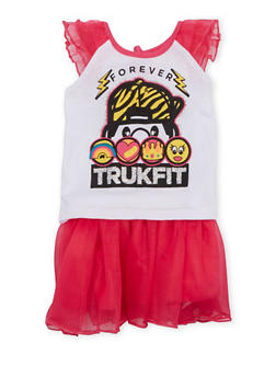 Baby Girl Trukfit Top and Tutu Set - 1642072911019