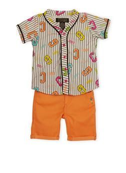 Toddler Girl Coogi Baseball Shirt and Shorts Set - 1671069382030