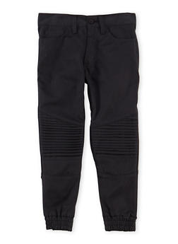 Boys 4-7 Moto Joggers with Five Pockets - 1701054730002