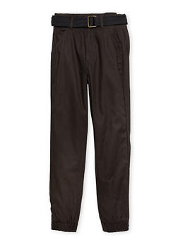 Boys 8-16 Welt Pocket Joggers with Belt - 1702054730004