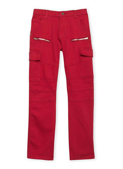Boys 8-18 Moto Jeans with Cargo Pockets - 1702063370002