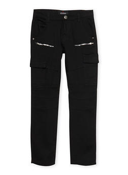 Boys 8-18 Zip Moto Pants with Cargo Pockets - 1702063370003