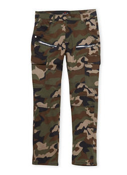 Boys 8-18 Cargo Pants in Camo - 1702063370004