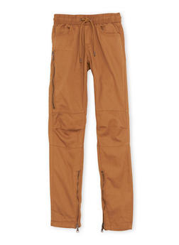 Boys 8-20 Khaki Pants with Zip Ankles - 1702073150001
