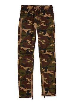 Boys 8-20 Moto Zip Camouflage Print Pants - 1702073150003