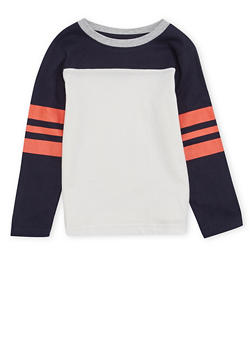 Boys 4-7 French Toast Long Sleeve Football Tee - 1703068320001