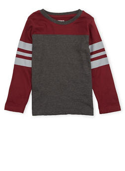Boys 4-7 French Toast Long Sleeve Football Tee - 1703068320003