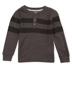 Boys 4-7 French Toast Striped Henley Top with Long Sleeves - 1703068320004