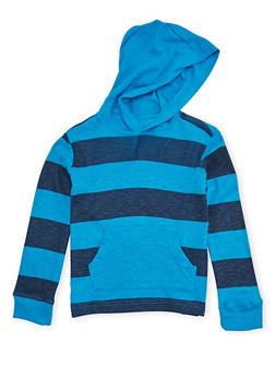 Boys 4-7 French Toast Hooded Top with Stripes - 1703068320006