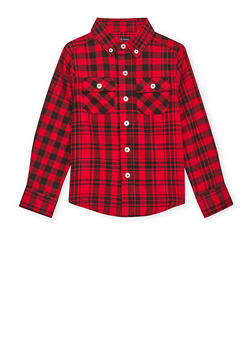 Boys 4-7 French Toast Plaid Flannel Shirt - 1703068320008