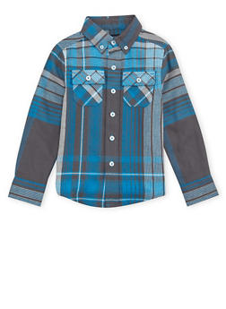 Boys 4-7 French Toast Plaid Flannel Shirt - 1703068320009