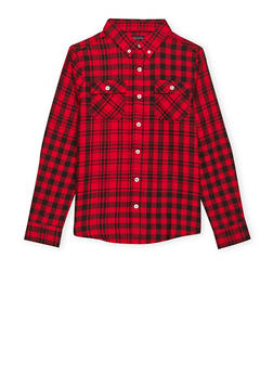 Boys 8-16 French Toast Plaid Flannel Shirt - 1704068320001