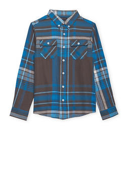 Boys 8-16 French Toast Plaid Flannel Shirt - 1704068320002