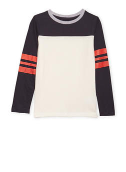 Boys 8-16 French Toast Long Sleeve Football Tee - 1704068320003