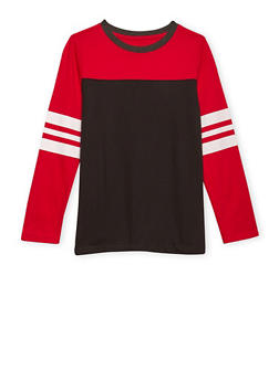 Boys 8-16 French Toast Long Sleeve Football Tee - 1704068320004