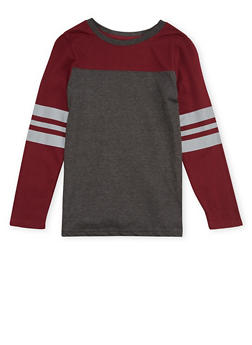 Boys 8-16 French Toast Long Sleeve Football Tee - 1704068320005