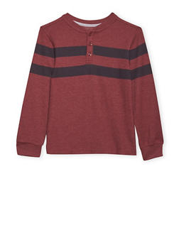 Boys 8-16 French Toast Long Sleeve Pique Henley - 1704068320007
