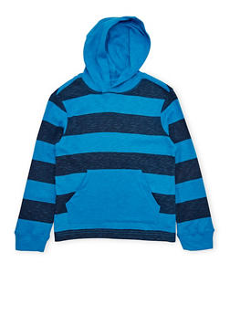 Boys 8-16 French Toast Hooded Top with Stripes - 1704068320008