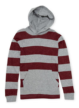 Boys 8-16 French Toast Hoodie with Stripes - 1704068320009