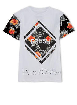 Boys 8-20 Floral Fresh Graphic Short Sleeve T Shirt - 1704072560101
