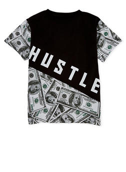 Boys 8-20 Hustle Money Graphic T Shirt - 1704072560102