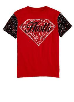 Boys 8-20 Paint Splatter Diamond Hustle Graphic Short Sleeve T Shirt - 1704072560103