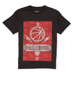 Boys 8-20 T Shirt with Certified Baller Graphic - 1704072560126