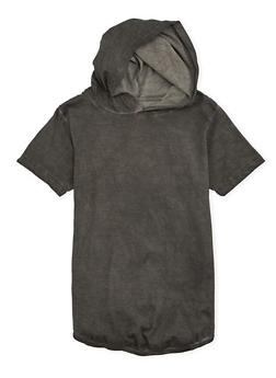 Boys 8-20 Acid Wash Hooded Tee - 1704073150010