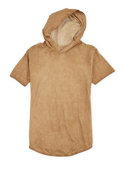 Boys 8-20 Acid Wash Hooded Tee - 1704073150013