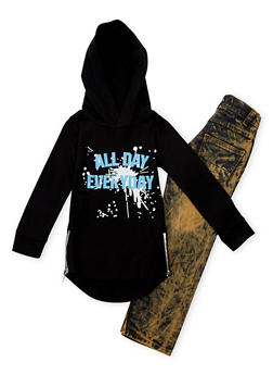 Boys 4-7 Graphic Hoodie and Jeans Set - 1705071950002