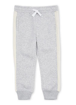 Boys 4-7 French Toast Fleece Joggers with Side Stripe - 1706068320006