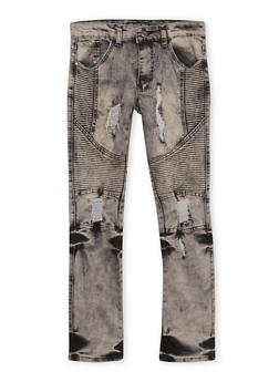 Boys 8-18 Distressed Moto Jeans - 1720047380002